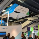 The VMware HCI Zone at VMworld 2019. It was… not very big.