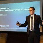 Kevin Isaac, Forcepoint Chief Revenue Officer, presents at the company's 2019 APAC partner conference in Kuala Lumpur, Malaysia. [Photo by Louis Lin, for Forcepoint]