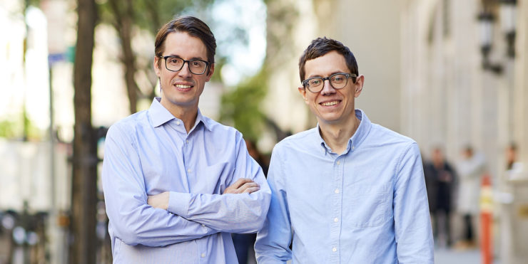 Clubhouse co-founders Kurt Schrader (left) and Andrew Childs (right)